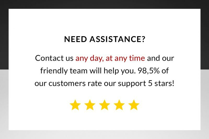 Enjoy 5 stars customer service