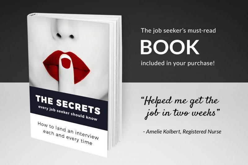 "Resume writing guide ""The secrets every job-seeker should know"" included in the resume template package ""David"""