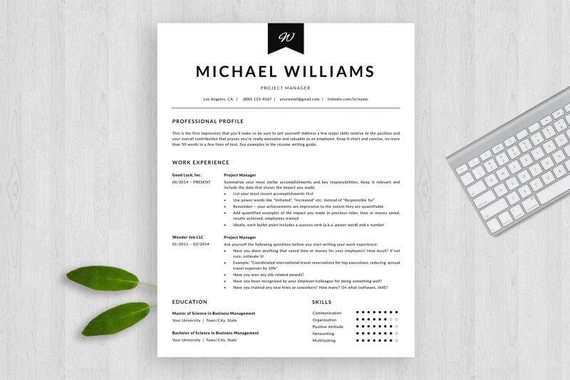 """ATS-friendly resume template / CV """"Michael"""" by TemplateHippo"""