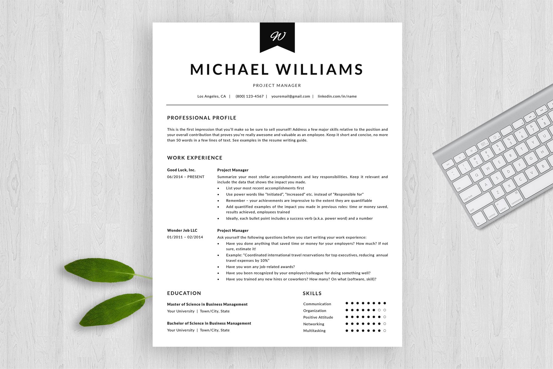 modern resume template and cover letter template  u0026quot michael u0026quot    bonus