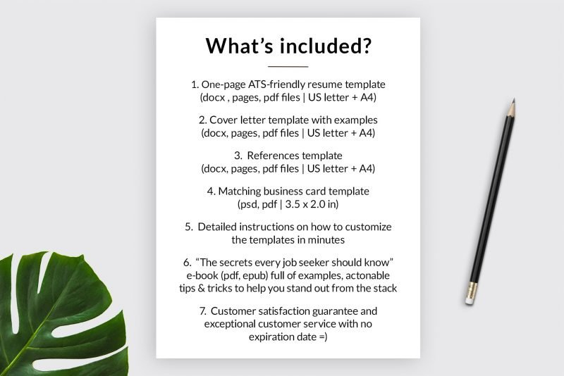 """What's inside the """"Adam"""" resume makeover package by TemplateHippo"""