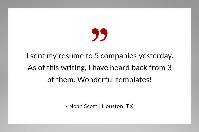 Best resume template! - feedback by Noah Scott