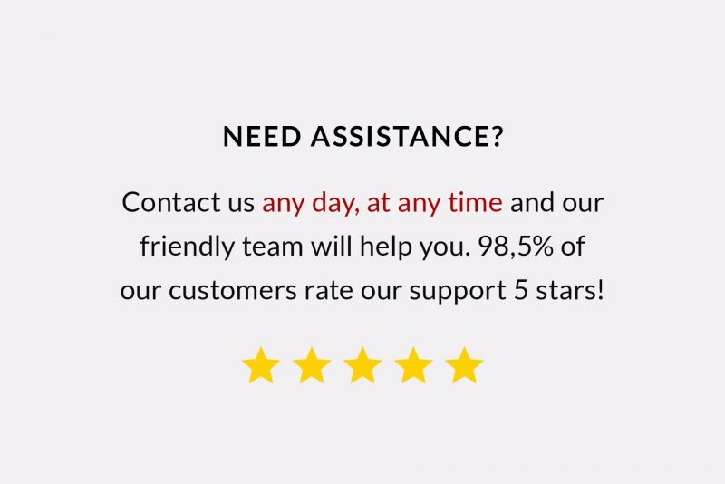 Top customer service by TemplateHippo