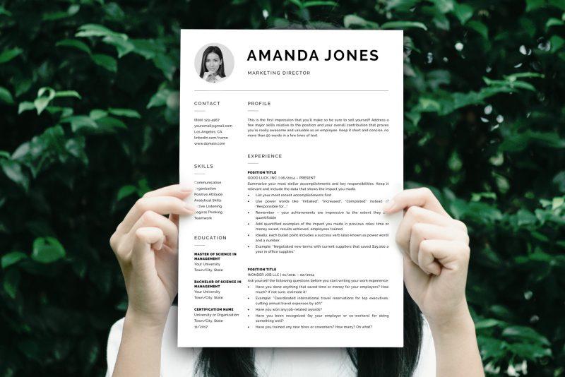 "Modern Resume Template ""Harry"" + BONUS   Sample Resume"
