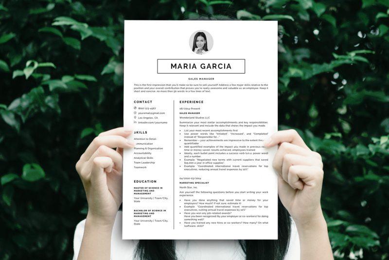 "Sharp Resume Template ""James"" + BONUS | Resume Example"