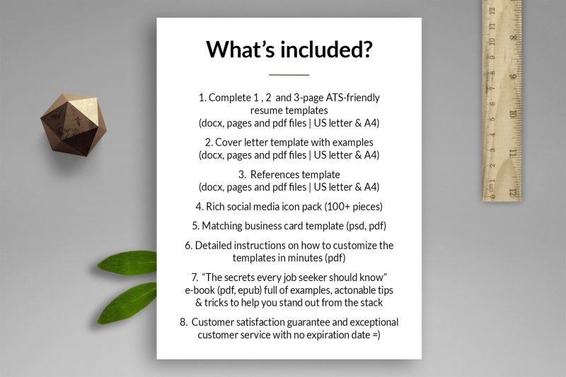 """What's included in """"Emily"""" resume template package"""
