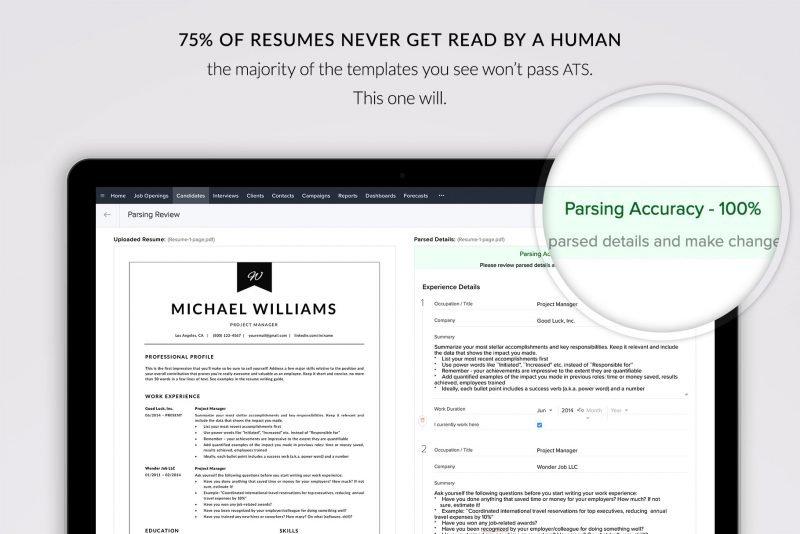 "ATS friendly resume ""Michael"""