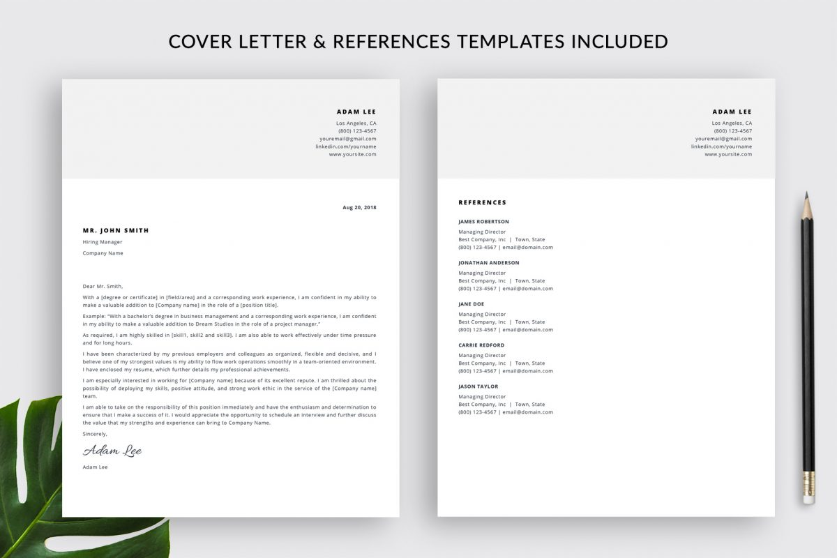 """Creative Resume Template """"Adam"""" + BONUS 