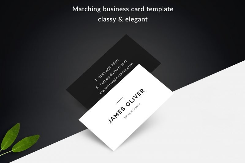 "Sharp Resume Template ""James"" + BONUS 