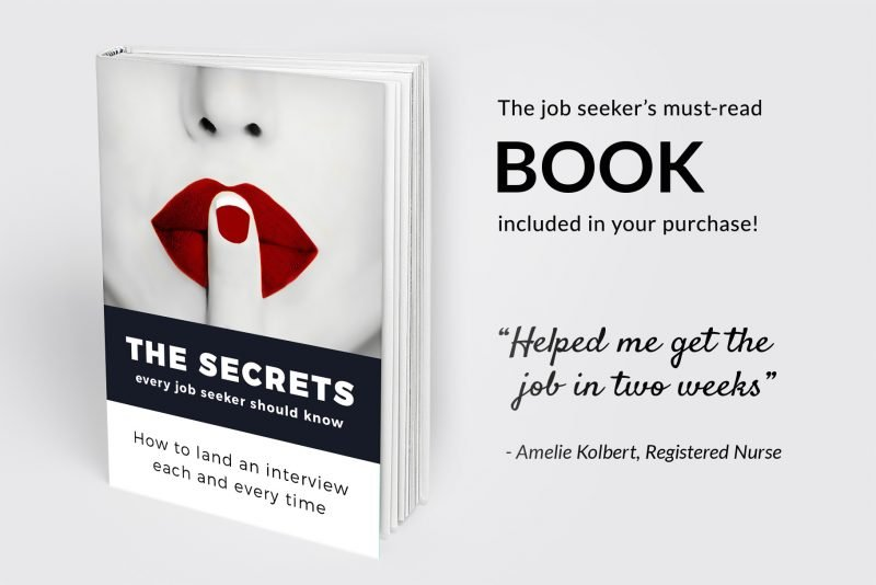 "Bonus e-book included in ""Adam"" resume makeover package"