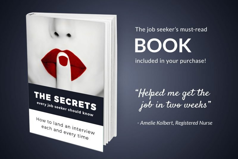 """Resume writing guide """"The secrets every job seeker should know"""" included in """"Amy"""" package"""