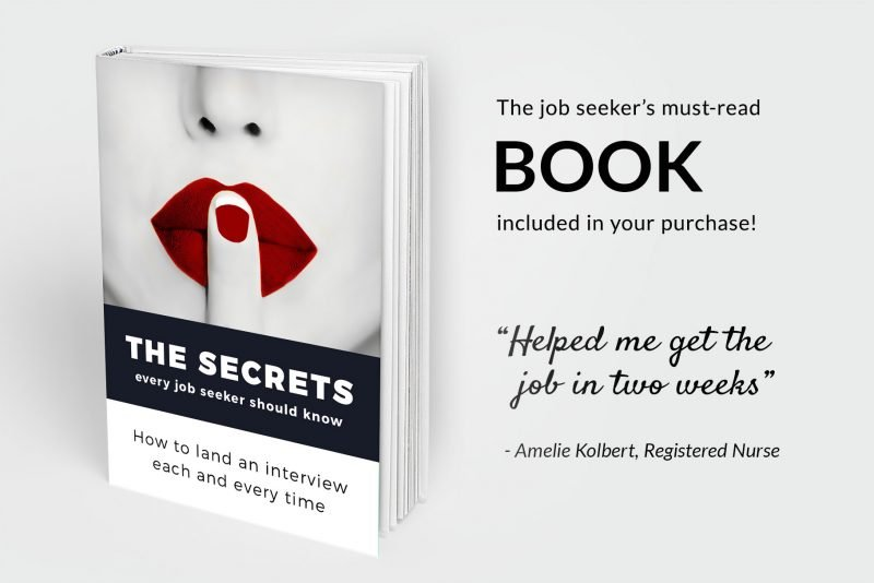 Bonus resume writing book included