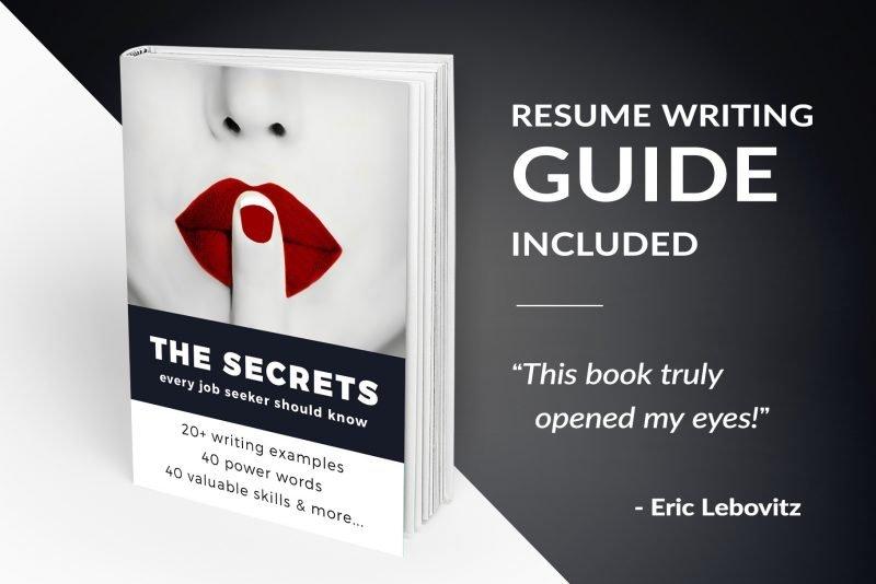 "Sharp Resume Template ""James"" + BONUS | Resume Writing Guide"