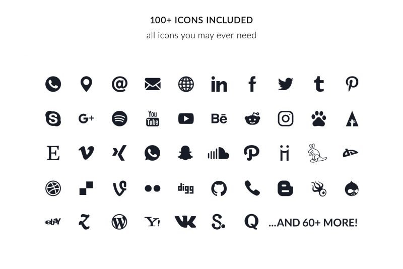 +100 custom icons for Mac Pages and Microsoft Word included in the resume templates