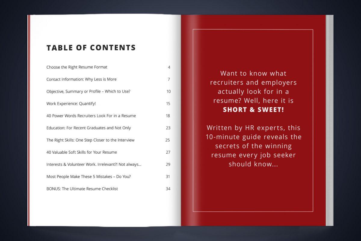"Bold Resume Template ""Amy"" + BONUS | Resume Writing Guide Content"