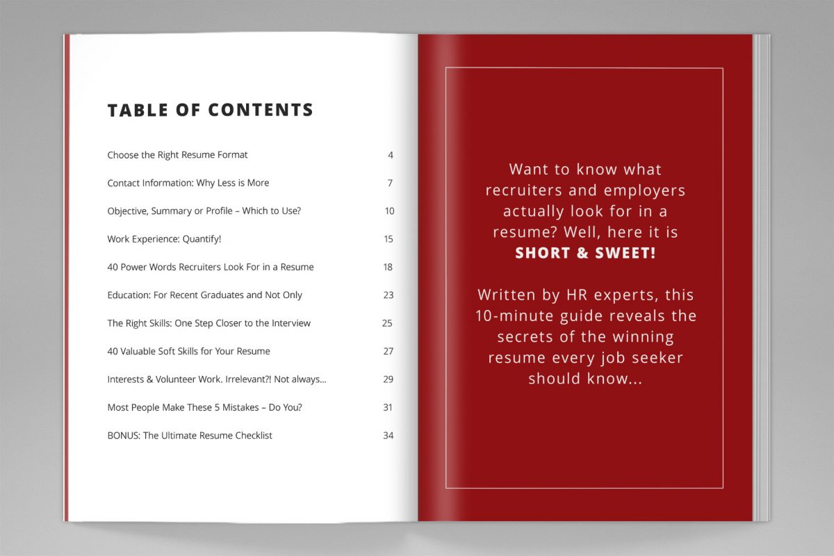 "Classic Resume Template ""Jessica"" + BONUS | Resume Writing Guide Content"