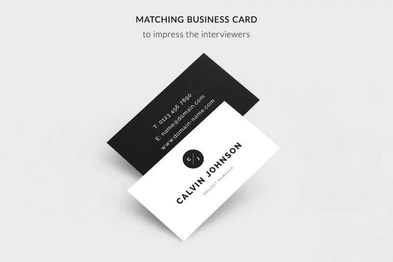 Free business cards template included