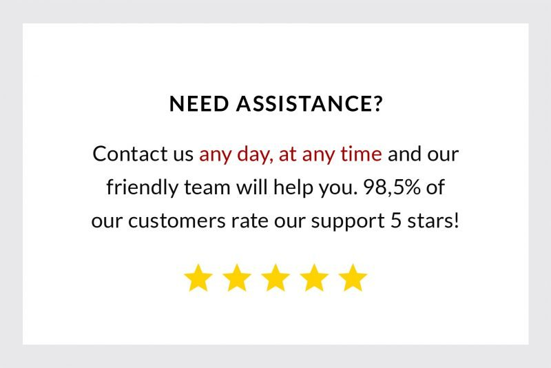 5 stars customer support by TemplateHippo team
