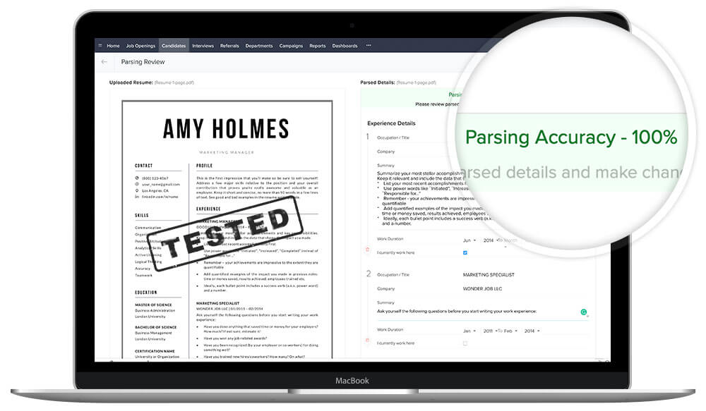 """ATS-friendly resume template ?CV template """"Amy"""" by TemplateHippo"""