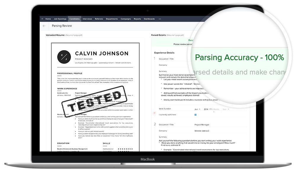 "ATS compatible resume templates ""Calvin"""