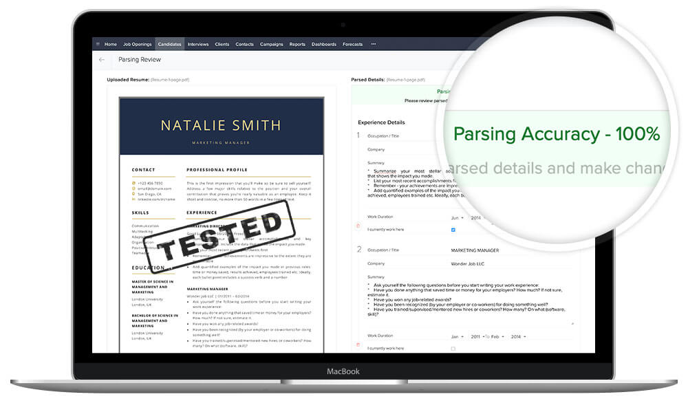 "ATS - friendly resume template Mac Pages and Microsoft Word ""Natalie"""