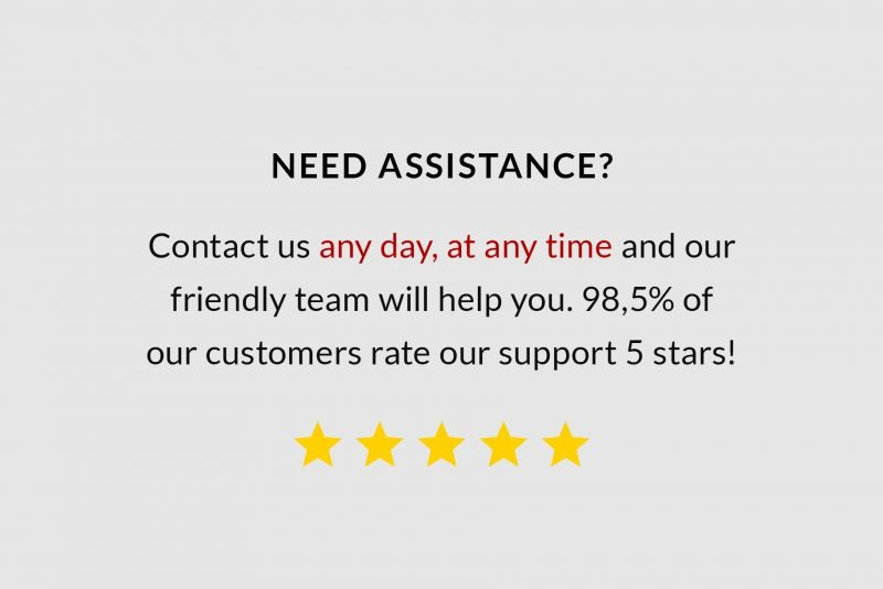 Five stars customer service by TemplateHippo