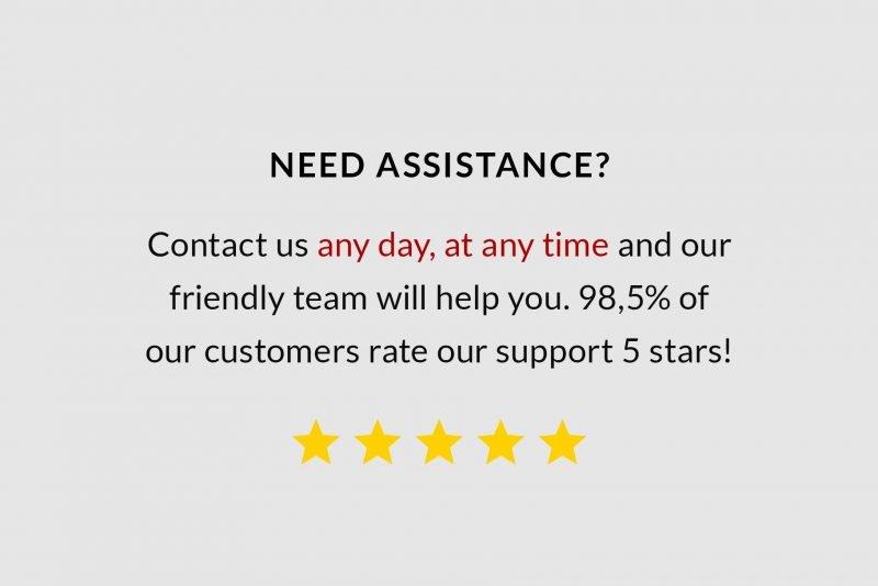 Five stars customer service by TemplateHippo