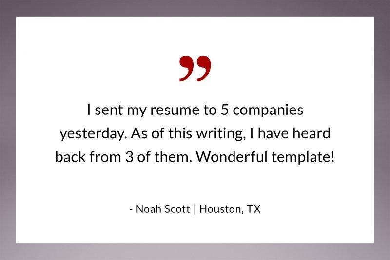 Resume template feedback