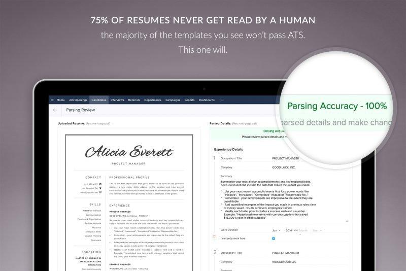 Modern ATS-friendly resume design