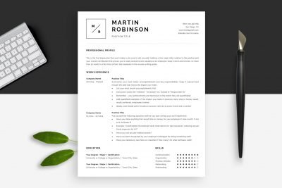 Minimal resume templates / minimal CV templates created by HR experts