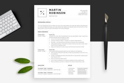 Minimal resume templates / minimal CV templates created by HR experts