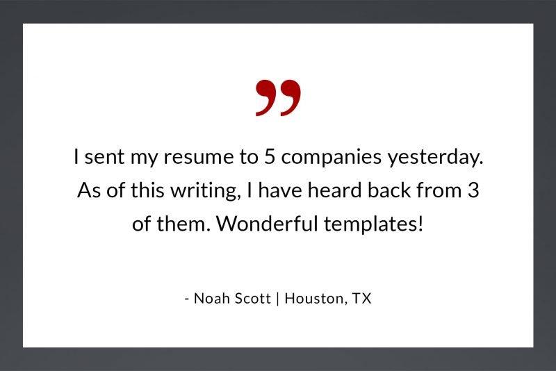 Resume review - wonderful templates by N. Scott, Houston