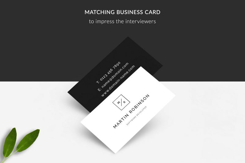 Business cards included