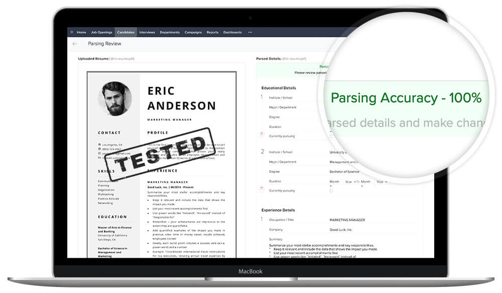 ATS-friendly resume template Eric - tested